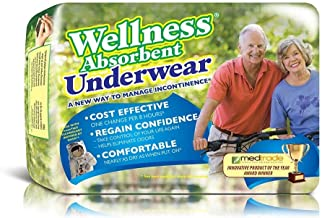 Wellness Absorbent Underwear w/ NASA Technology, Large, Pack/16