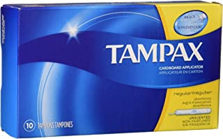 Tampax Tampons Regular Absorbency - 10 ct, Pack of 6