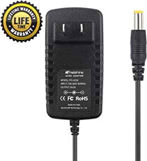 Molshine Compatible 9V AC DC Adapter Replacement AD24 AD-24 AD-24ES AD-20 AD-30 AD-60 for Brother P-Touch PTD200 PT-D200 PT-D200VP PTD210 PT-D210 Label Maker Power Supply Cord Charger
