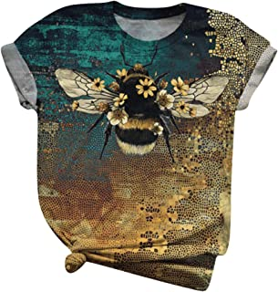 Hotkey Womens Summer T Shirt Printed