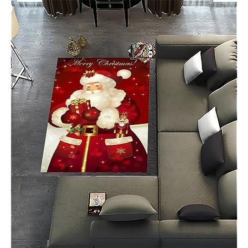 Christmas Carpet Runner.Christmas Rugs Amazon Co Uk