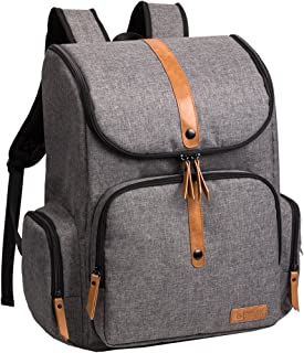 ALLCAMP OUTDOOR GEAR Urban Diaper Bag Large Capacity, Stroller Straps, Changing Pad, Grey