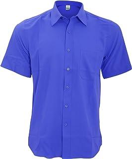 Henbury Camisa Transpirable para trabajar de manga corta accion anti-bacterial Hombre/Caballero - Trabajo/Fiesta/Verano