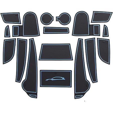 Lfotpp Kompatibel Mit Gummimatten Antirutschmatten Kona 17 Stücke Blau Auto