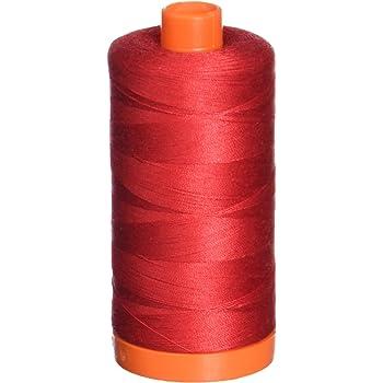 Aurifil 2250 Mako 50 Wt 100/% Cotton Thread 6,452 Yard Cone Red