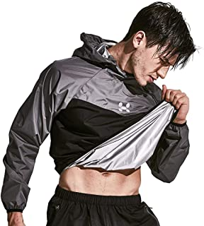 HOTSUIT Sauna Suit Men Weight Loss Gym Exercise Sweat Suits Workout Jacket