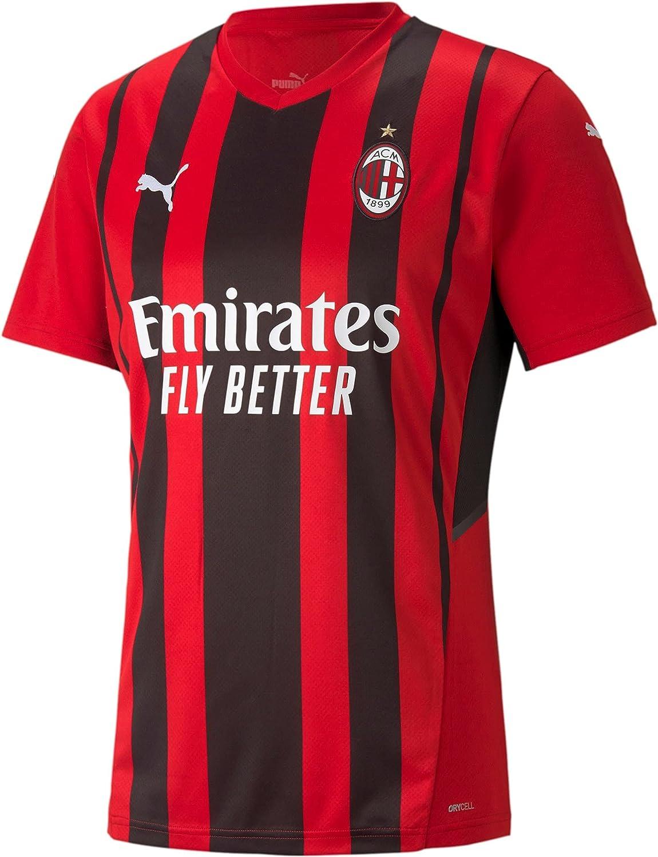 PUMA 2021-2022 AC Max 83% OFF Milan Home Jersey Kid Soccer T-Shirt Football Popular brand in the world
