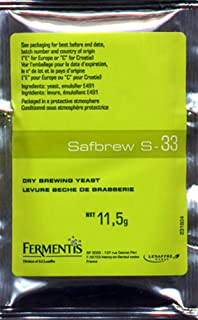 Safbrew S-33 Ale Yeast, 11.5g - 2-Pack