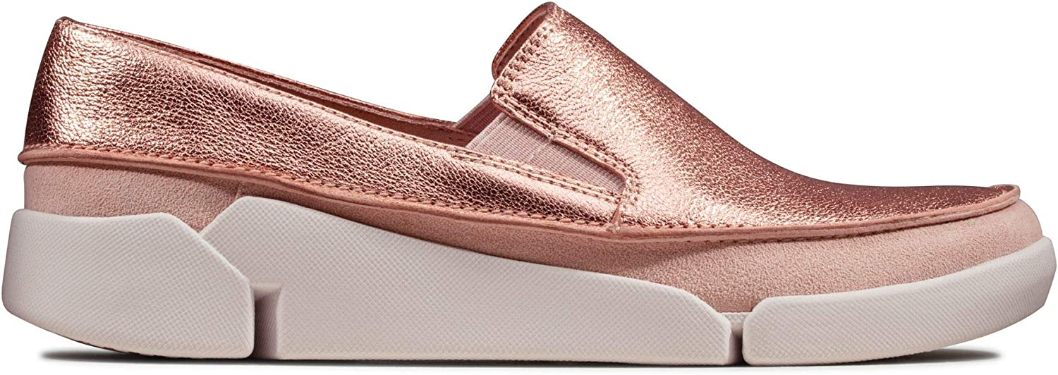Clarks Damen Tri Step Slip On Sneaker Beige Blush Blush