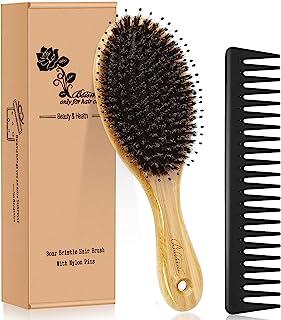 برس موی برس Boar Bristle برس با نایلون Detangle Pins ، برس موی چوبی موی چوبی مخصوص آقایان ابزار صاف کننده و پاک کننده قلم مو برای آقایان