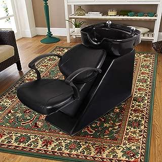 Aoxun Shampoo Backwash Chair, ABS Plastic Shampoo Bowl Sink Barber Chair for Spa Beauty Salon (Black) …