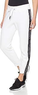 Calvin Klein Women's Logo Fleece Jogger W/High Low Rib Cuffs and Side Logo Tape
