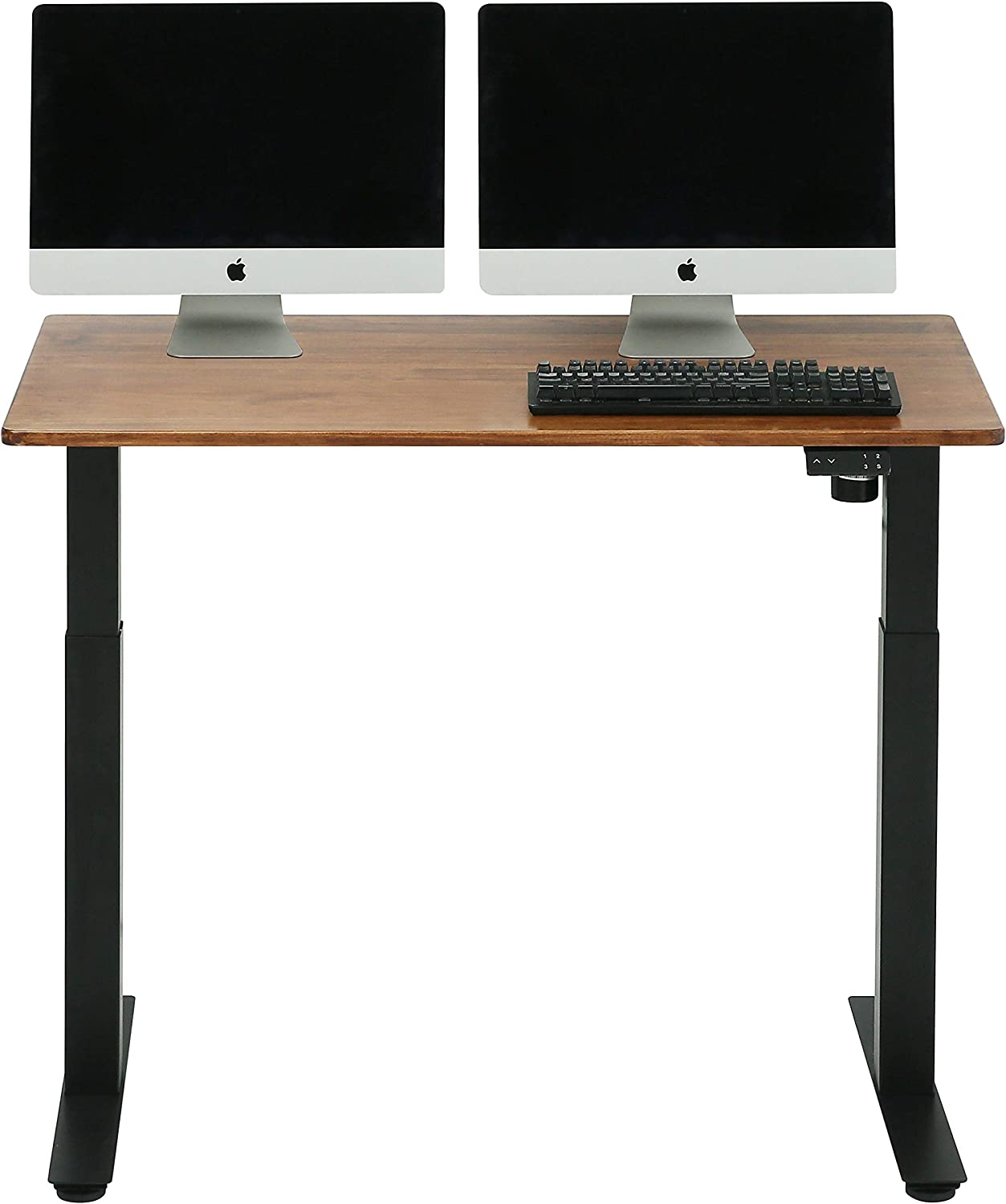SDADI Solid Wood Top Electric Standing 授与 Adjustable Height Desk- 新登場 S
