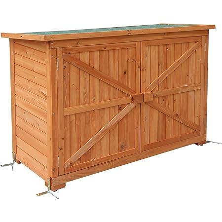 MCombo - Armoire de jardin Armoire d'extérieur Abri à outils Bois1280