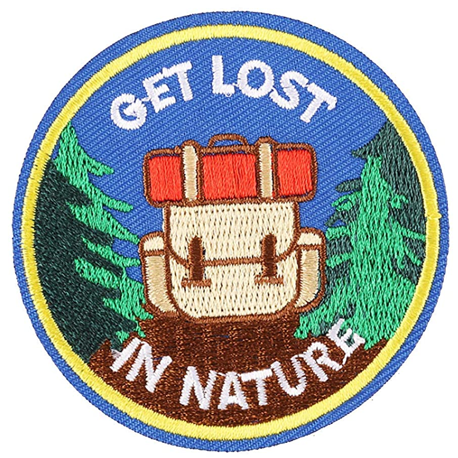 U-Sky Sew or Iron on Patches - Get Lost in Nature Patch