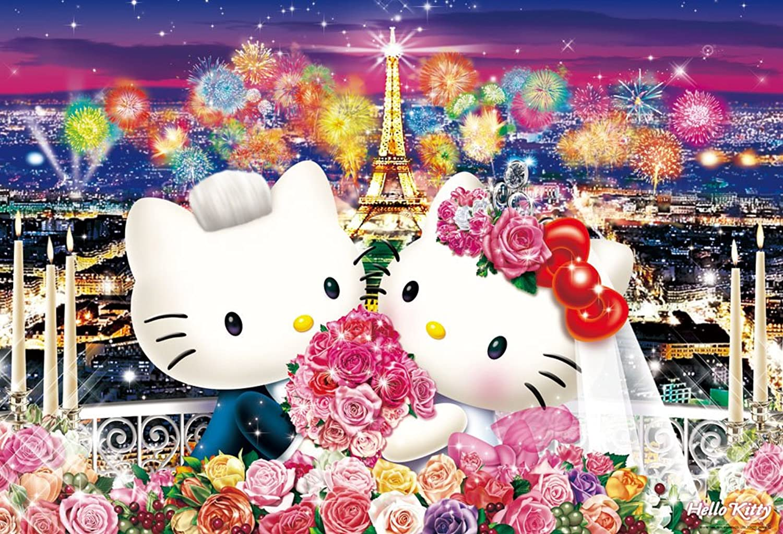 1000 piece jigsaw puzzle Sanrio Characters Wedding in Paris (49x72cm)