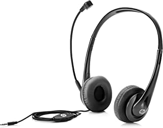 HP Wired Mic Headset w/Microphone for PC (3.5mm Stereo Connector)