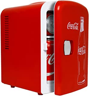 Coca-Cola Classic Mini Fridge/Cooler - Portable Cooler and Warmer with Thermoelectric Technology, 4 Liter/6 Can Capacity, ...