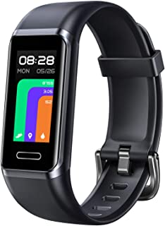 LETSCOM Fitness Tracker, Smart Touch Screen Activity Tracker with Heart Rate Monitor & Blood Oxygen Saturation, Calorie St...