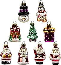 Set of 9 Miniature Dollhouse Mini CHRISTMAS Tree Gingerbread Ball Ornaments Cane