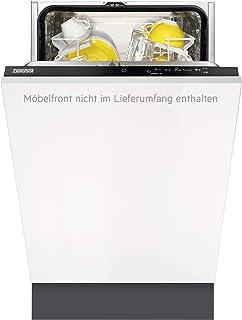 Zanussi ZDV12003FA Totalmente integrado 9cubiertos A+ lavavajilla - Lavavajillas (Totalmente integrado, Blanco, Estrecho (45 cm), Negro, Tocar, Natural)