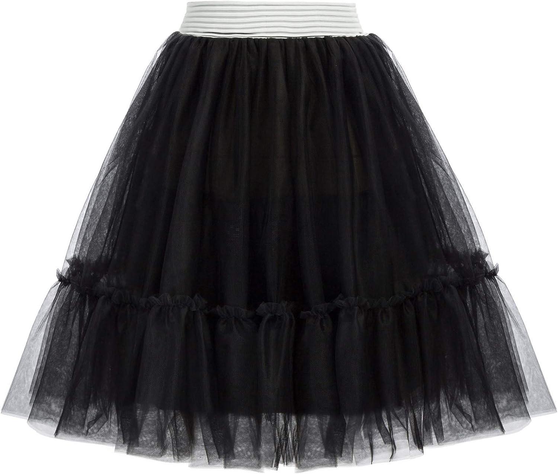 1950s Petticoat History GRACE KARIN Women Petticoat Skirts 50s Tutu Crinoline Underskirt for Rockabilly Dress S-XXL  AT vintagedancer.com