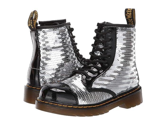 803c2a6a0e0d Dr. Martens Kid's Collection 1460 Pooch Sequins Boot (Little Kid/Big ...