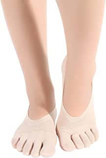 EOZY レディース 5本指ソックス 無地 ショートソックス 女性 速乾性 通気性 アンクル靴下 スニーカー用ソックス 滑り止め