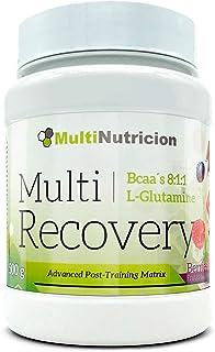 Multi Recovery 8:1:1 - Recuperador Muscular En Polvo A Base De Aminoácidos y Glutamina, Sabor A Bayas (500 gr)