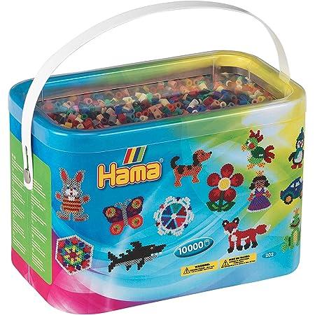 Hama - 202-67 - Loisirs Créatifs - Baril de 10000 Perles à Repasser - Taille Midi - Mix 22 couleurs - Coloris aléatoire