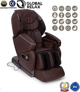 """NAVIDAD -300€ l NIRVANA® Sillón de masaje 3D - Marrón (modelo 2019) - Sillon masajeador relax de shiatsu con 9 programas masajeadores - Gravedad y Pared """"Cero"""",magnética,ionizador-Garantía 2 AÑOS"""