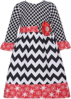 Counting Daisies Chevron Snowflake Winter Dress (2t-6x)