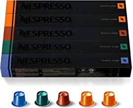 Nespresso Capsules OriginalLine ,Morning Lungo Blends Variety Pack, from Mild to Medium to Dark Roast Coffee, Coffee Pods,...