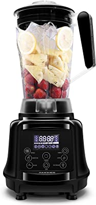 AIMORES Blender for Smoothies Heavy Duty, 75oz 3 in 1 Programmed Commercial High Speed Juice Blender(28,000RPM),Professional Blender, Auto Clean & Timing, 6 Blades, ETL/FDA Approved - (Black)