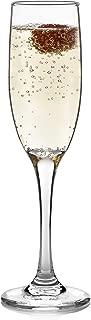 Libbey Claret Champagne Flute Glasses, Set of 8
