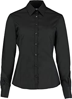 bd035185 Kustom Kit Womens Ladies Plain Long Sleeved Shirt Work Formal Office  Business Tailored Fit