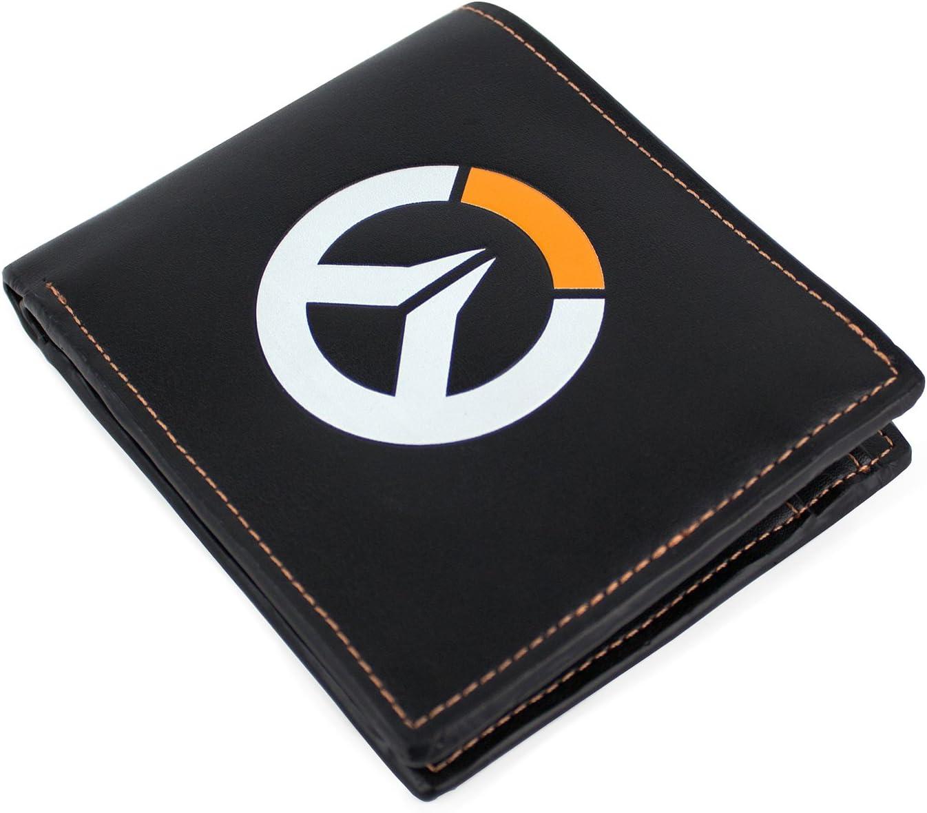 Overwatch OVERWATCH Logo Faux Leather Tri-Fold Monedero 12 Centimeters Negro (Black)