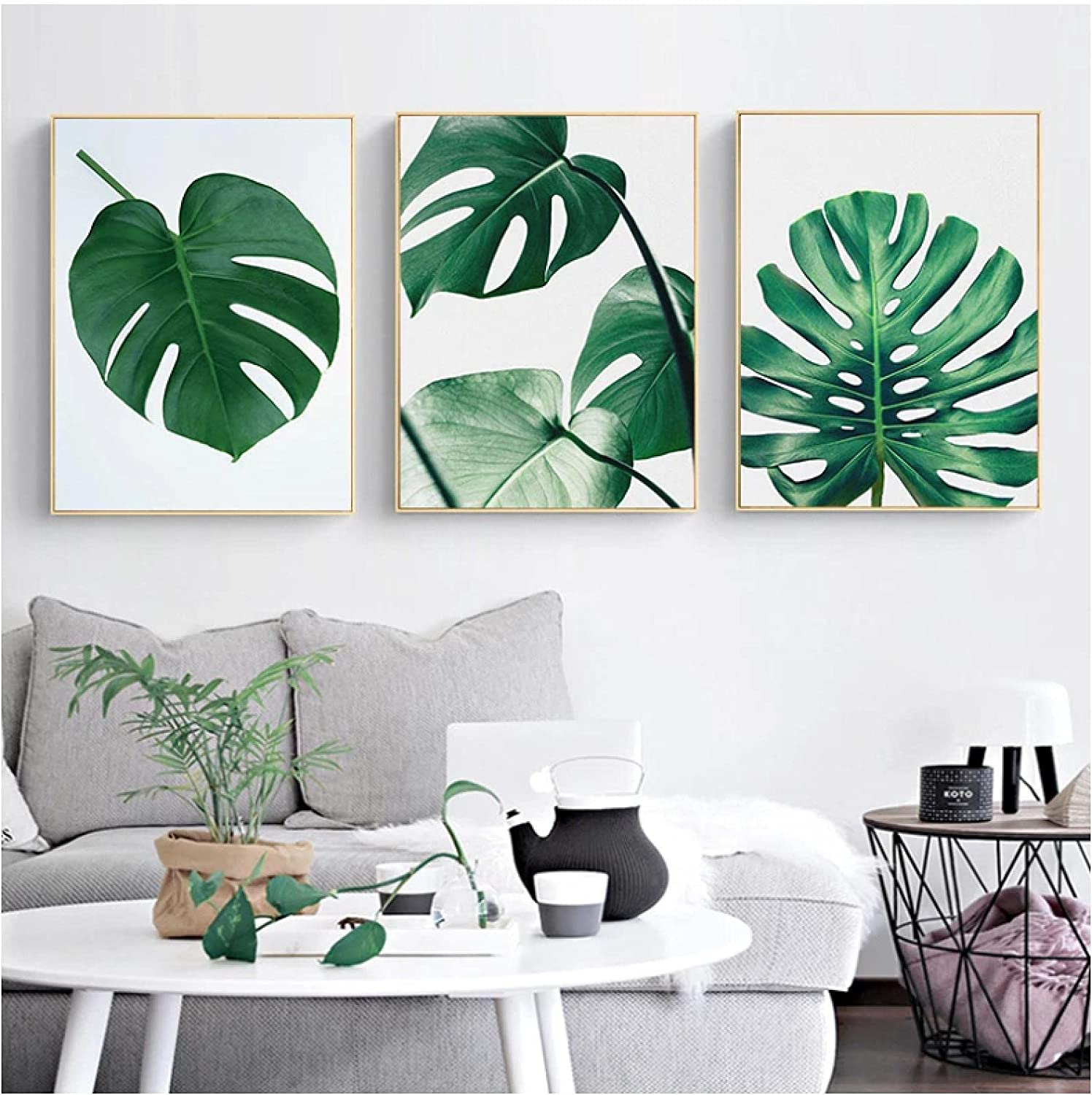 Wall Factory outlet Art,Tropical Year-end gift Leaf Posters Palm Monstera Banan Prints