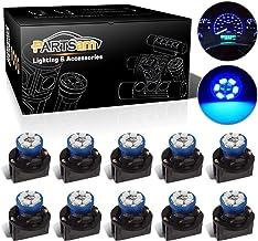 Partsam T10 194 LED Light Bulb 168 LED Bulbs Bright Instrument Panel Gauge Cluster Dashboard LED Light Bulbs Set 10 T10 LED Bulbs with 10 Twist Lock Socket-Blue