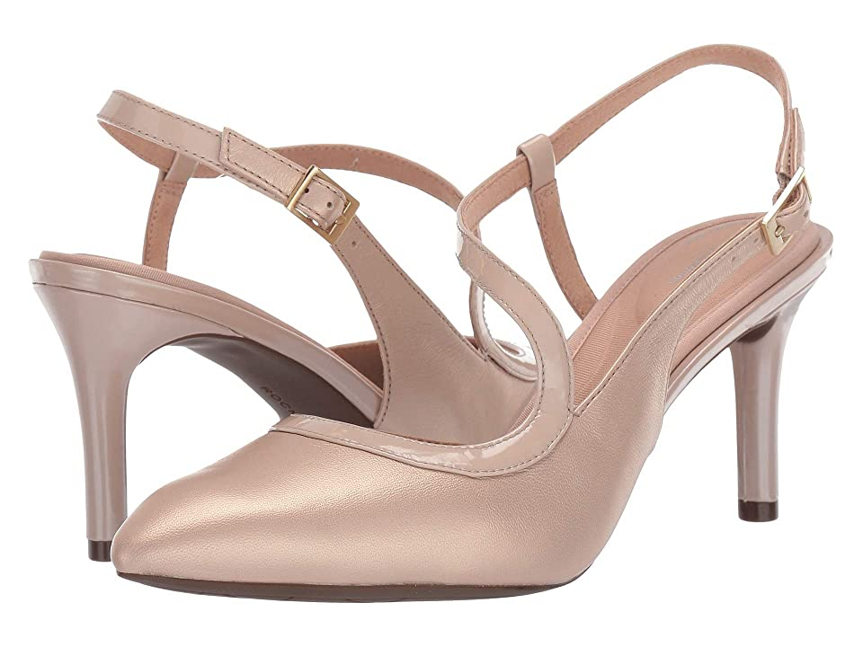 Rockport Total Motion 75mm Pointy Toe Ankle Strap (Neutral Beige) High Heels