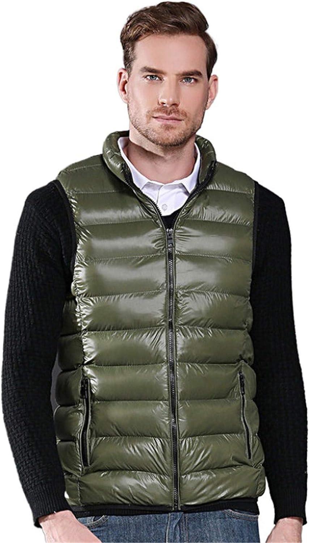 Snhpk Men's Cotton Vest Outerwear Gilets Coat Softshell Jacket, Winter Thicken Warm Windproof Overcoat Waistcoat,003,XXL