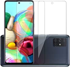 POPIO Tempered Glass for Samsung Galaxy M51 / A71 / Samsung Galaxy Note10 Lite (Transparent) Full Screen Coverage (except edges), Pack of 2