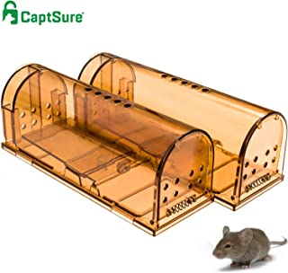 CaptSure Original Humane Mouse Traps, Easy to Set, Kids/Pets Safe, Reusable for..