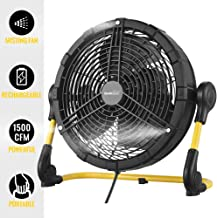 Geek Aire Battery Operated Fan, Rechargeable Outdoor Misting Fan, Portable High Velocity..