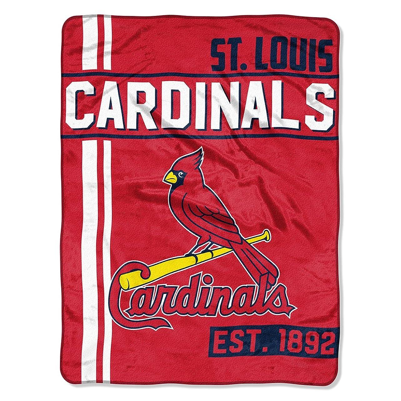 怖がらせるフェードアウト不十分なLouis Cardinals Blanket 46?X 60?Raschel Triple Playデザイン