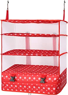 TABITORA Travel Luggage Organizer and Packing Cube Space Saver With Built In Hanging Shelves and Laundry Storage Compartme...