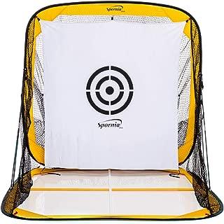 Spornia Spg-8 Golf Practice Net - Catch Net System w/Golf Simulator Target Sheet, Two Side Barrier