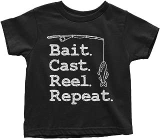 Threadrock Kids Bait Cast Reel Repeat Toddler T-Shirt