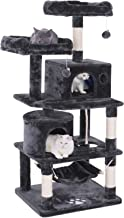 BEWISHOME Cat Tree Condo Furniture Kitten Activity Tower Pet Kitty Play House with Scratching Posts Perches Hammock MMJ01
