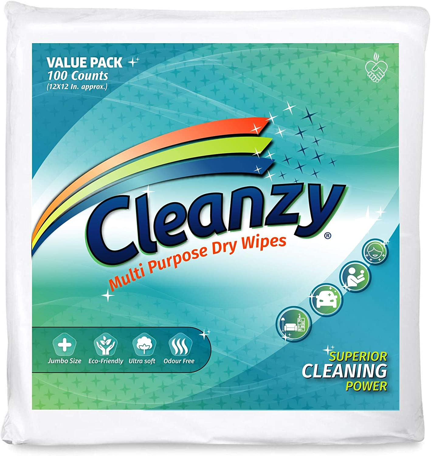 Columbus Mall Cleanzy – Ranking TOP17 Multi Purpose Dry Wipes- Pack 1 200 Pieces